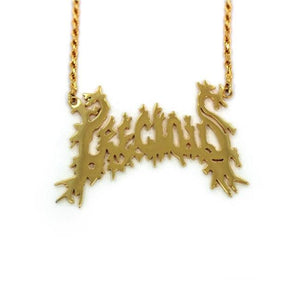 Precious Name Plate Pendant Vermeil Pm Necklaces