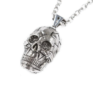 Rivet Skull Pendant Silver Ss Necklaces