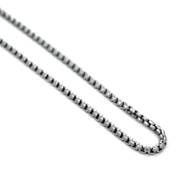 Round Box Chain Stainless Steel / 26 Ss Necklaces
