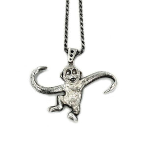Monkey Pendant, Monkey Necklace, Barrel of monkeys, monkey jewelry, monkey charm