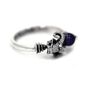 left of the Skeletor havoc Ring in silver from the masters of the universe jewelry collection