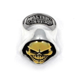 arial shot of the Skeletor Ring from the masters of the universe collection