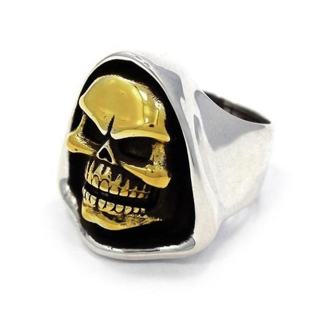 front of the Skeletor Ring from the masters of the universe collection
