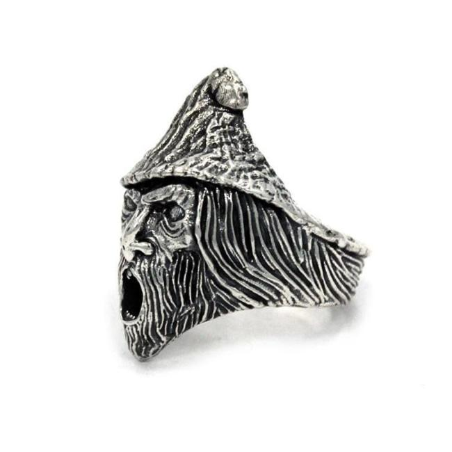 Skinner Chaos Head Ring Sterling .925 / 9 Pm Rings