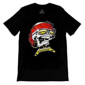 front of the Skully T-Shirt from the han cholo skulls collection