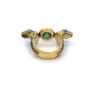 back of the Snake Ring in gold from the han cholo fantasy collection