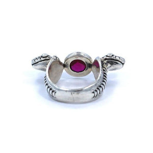 bottom of the Snake Ring in silver from the han cholo fantasy collection