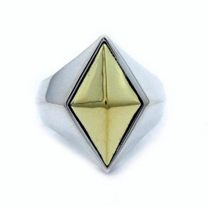 front of the space god ring in 2 tone from the han cholo fantasy collection