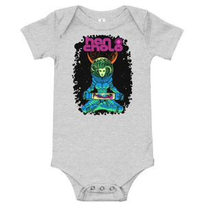 Space Medusa Baby Onesie Athletic Heather / 3-6M