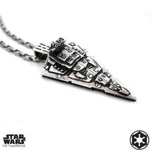 right angle of the Star Destroyer Pendant from the han cholo star wars collection