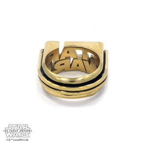 back of the Star Wars Logo Ring in gold from the star wars collection
