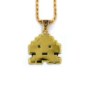 Stoney Invader Pendant Gold Ss Necklaces