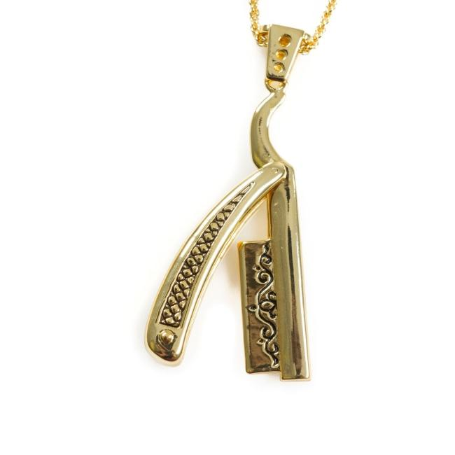 Straight Razor Pendant Silver Ss Necklaces