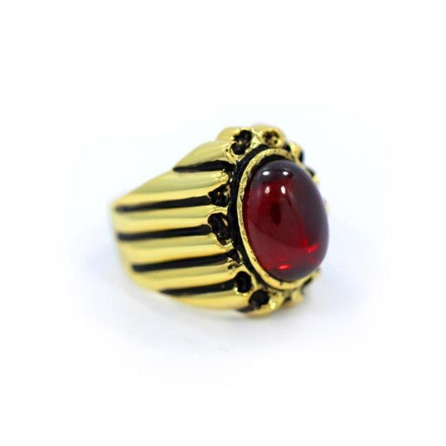 Sun God Ring, God Ring, King Ring, Garnet Ring, Mens Ring, Han Cholo Ring, Red stone ring