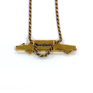 back of The High Life Pendant in gold form the han cholo cruising collection