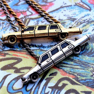 shot of The High Life Pendant in silver and gold form the han cholo cruising collection