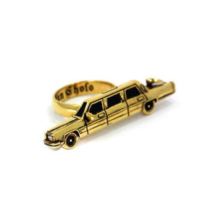 right angle of The High Life Ring in gold form the han cholo cruising collection