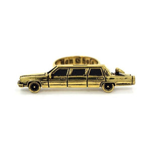 front of The High Life Ring in gold form the han cholo cruising collection