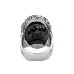 back view of the Wolfman Ring from the universal monsters jewelry collection