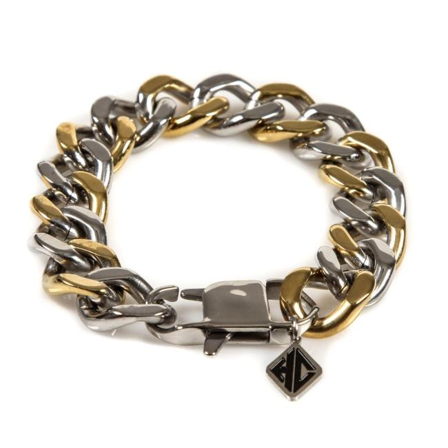 Thick 2-Tone Chain Gold/silver Ss Bracelets