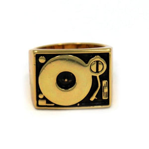 Turntable Ring, DJ Ring, DJ Jewelry, Record Jewelry, Record Ring, Han Cholo Jewelry