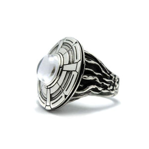 right side of the Ufo Ring in silver from the han cholo alien collection
