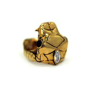 right top angle of the Venom Ring gold from the han cholo fantasy collection