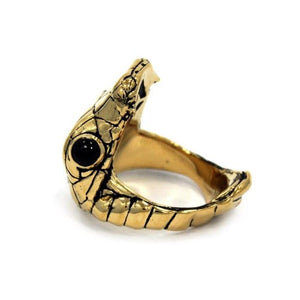 right angle of the Venom Ring gold from the han cholo fantasy collection