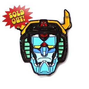 Voltron Head Enamel Pin