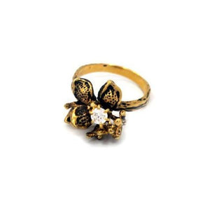 Weeping Willow Ring, Flower Ring, Stone Flower Ring, Flower Jewelry, willow ring, willow jewelry