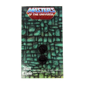 back of the Zombie horde He-Man enamel pin on a masters of the universe pin card