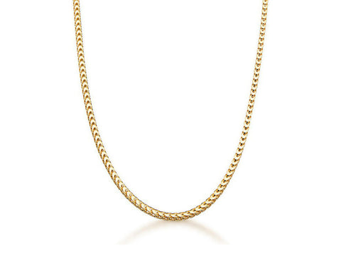2.4mm Franco Chain Necklace - 18k Gold
