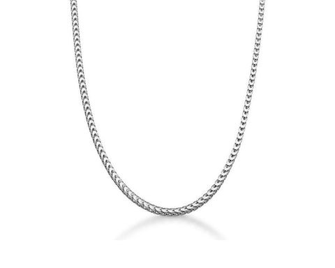 2.4mm Franco Chain Necklace - Polished