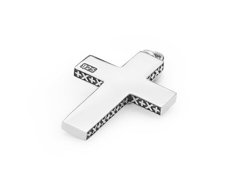 Signature Cross Pendant - Polished Sterling Silver