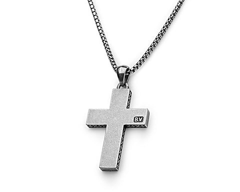 Signature Cross Pendant - Antiqued Sterling Silver