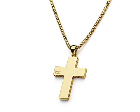 Signature Cross Pendant - 18k Gold