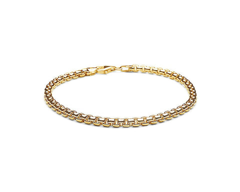 4mm Venetian Chain Bracelet - 18k Gold