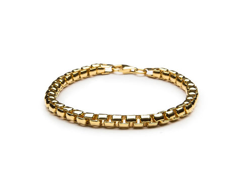 5mm Venetian Chain Bracelet - 18k Gold