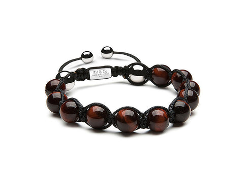 Red Tiger Eye Shamballa - Polished
