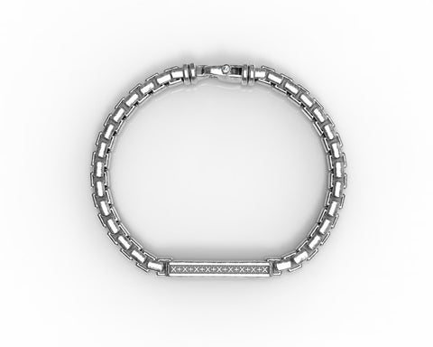 Signature ID Bracelet - Antiqued Sterling Silver