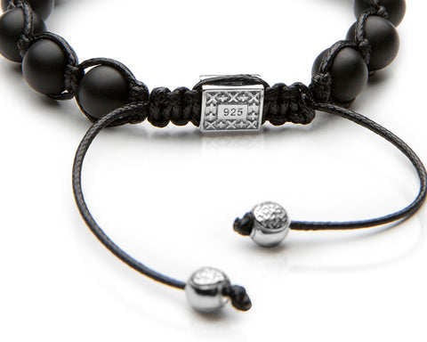 Signature Onyx Shamballa - Polished Sterling Silver