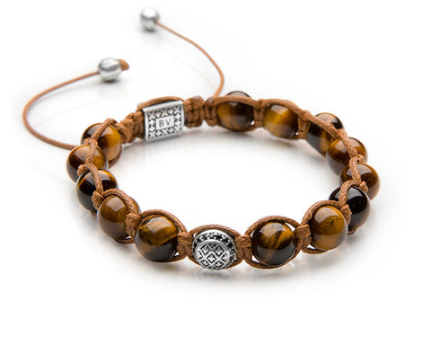Signature Tiger Shamballa - Antiqued Sterling Silver