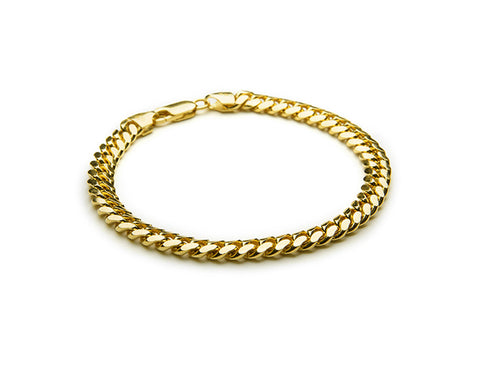 Miami Cuban Chain Bracelet - 18k Gold