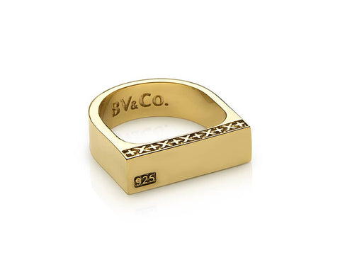 Signature Bar Ring - Gold