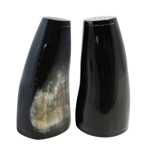 Mixed Horn Salt and Pepper Shakers