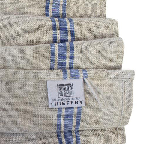 Thieffrey Belgian LInen Dishtowe with a Blue Stripe
