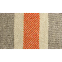 Heather Gray and Orange Border Stripe Blanket