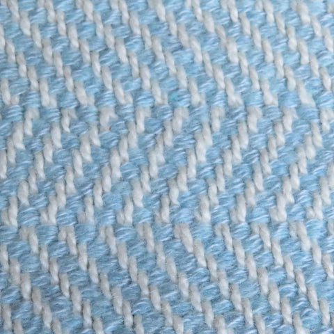 Harmony Chevron Throw Blanket in Blue