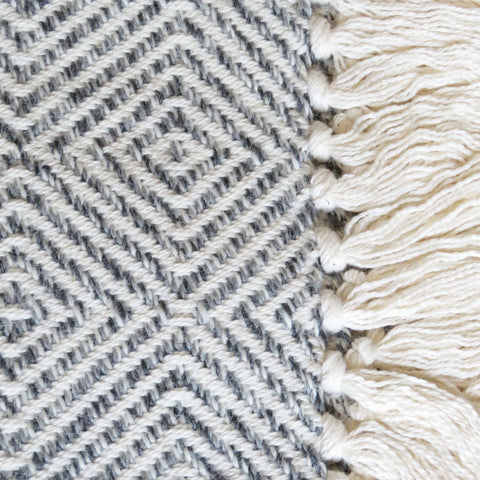 Sugarloaf Alpaca Throw Blanket in Feldspar