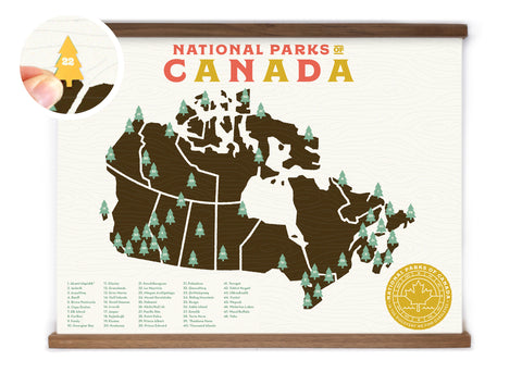 18x24 Canada National Parks Map